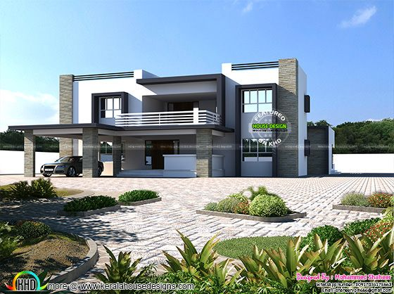 4500 square feet 8 BHK flat roof home | Kerala home design | Bloglovin'