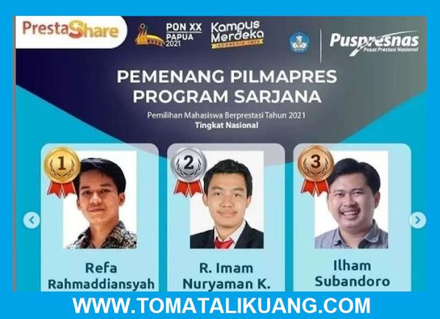 pemenang pilmapres tahun 2021 sarjana diploma pusat prestasi nasional puspresnas tomatalikuang.com