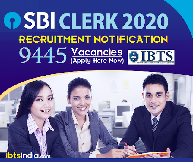 SBI Clerk Notification 2020 PDF Out for 9400+ Vacancies, (Apply Here Now)