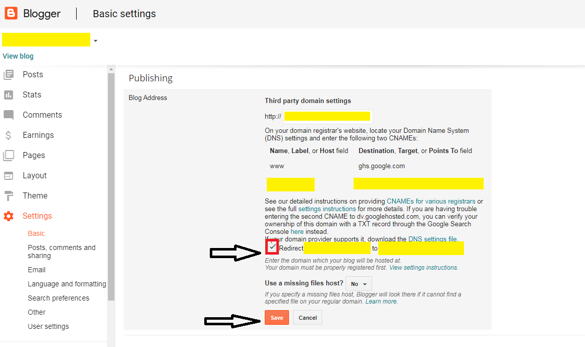 Fix Custom Domain Not Working Without 'www' In Blogger   Blog Address Redirect