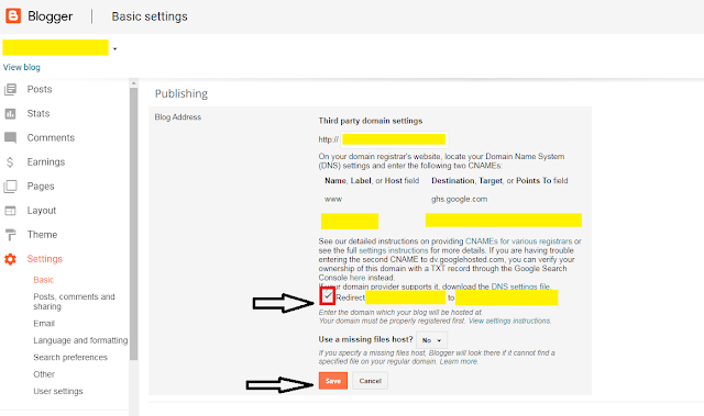Fix Custom Domain Not Working Without 'www' In Blogger | Blog Address Redirect