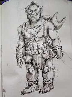 small orc - sketch