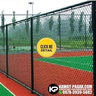 kawat pagar harmonika untuk lapangan tenis