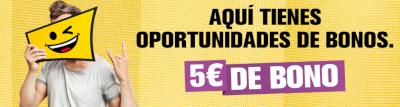interwetten 5 euros bono gratis apostar liga hasta 20 enero 2019
