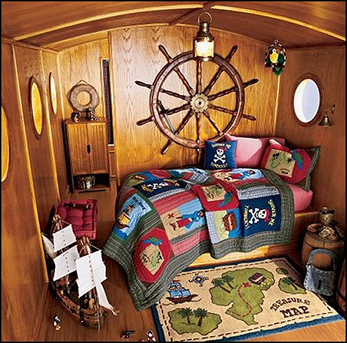 boat cabin bedroom pirate treasure bedroom decor pirateship toys ships wheel wall decorations pirates bedding