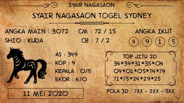 Prediksi Togel Sydney Minggu 11 Mei 2020 - Nagasaon Sydney