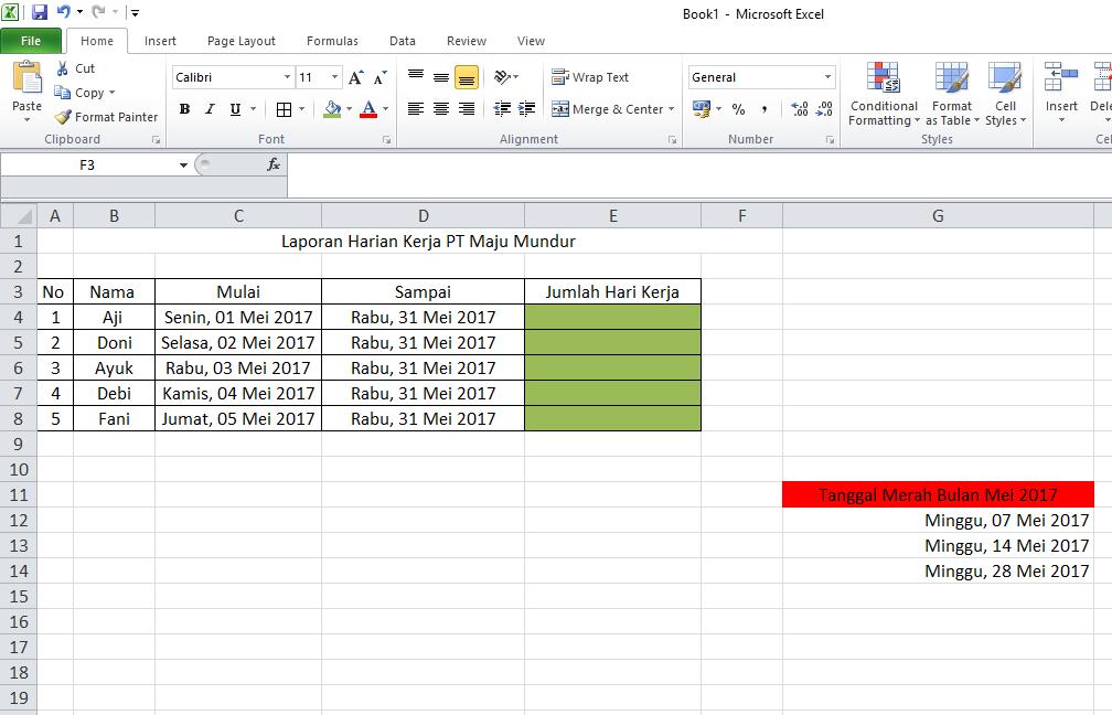 Kumpulan Contoh Soal Latihan Excel Komputer Di Perusahaan Update Informasi Menarik