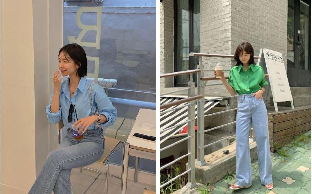 Áo sơ mi - quần jeans
