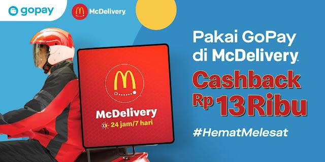 Promo McD GoPay cashback Rp 13.000