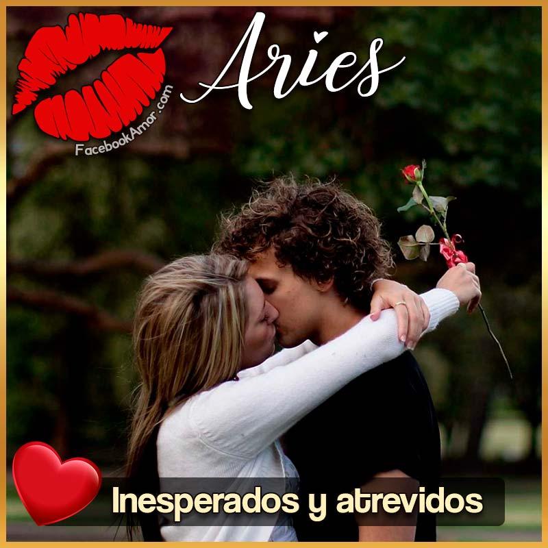 besos de signo Aries