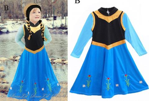 gambar baju gamis anak frozen