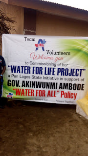 Team A+ Volunteer Group a pan Lagos state initiative in support of Gov Akinwunmi Ambode commission water for life project.