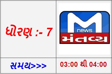 STD 7 - Mantavya Gujarati TV  Live Karyakram
