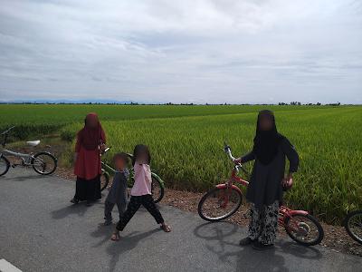 Cuti best dengan anak-anak di Sekinchan