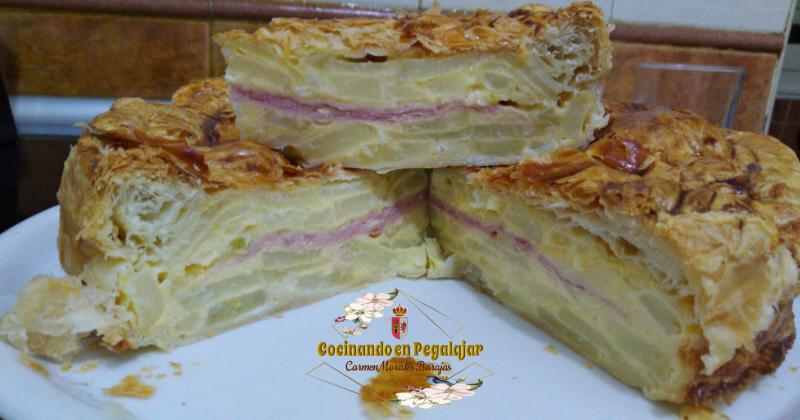 Tortilla de Patatas Rellenas Hojaldrada