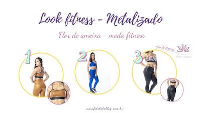 tendência fitness - metalizado -Flor de Ameixa