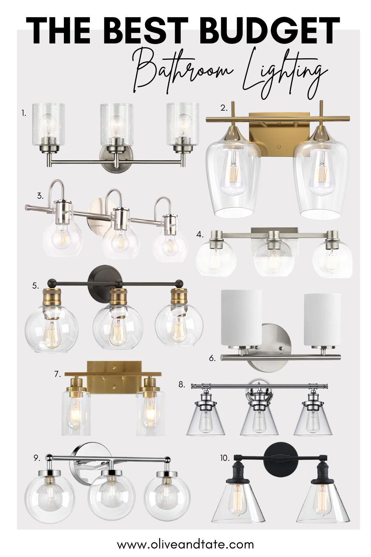 Best Budget Bathroom Light Fixtures, Lighting Fixtures For Bathroom