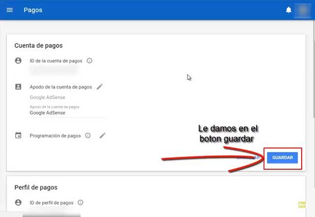cuenta de pagos google adsense