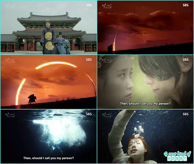 when king wang jung saw the sky it was black and solar epics occue same when wang So come to th epalace and from the real world hae so come here  - Moon Lovers Scarlet Heart Ryeo - Episode 20 Finale (Eng Sub)