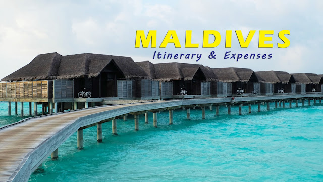 Maldives itinerary and expenses