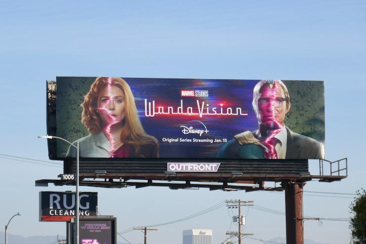 WandaVision TV series billboard