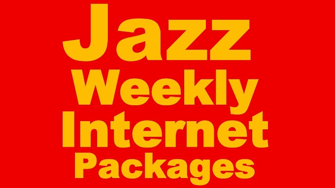 Mobilink jazz Weekly Internet Packages - Price & Details