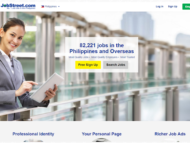 Barely able to make ends meet, hardly pay their mortgages, rents, bills and other financial related problems, many Filipinos resort to finding jobs abroad due to lack of job opportunities with an adequate salary in the Philippines. In their quest for landing a high earning job, they turn on different websites that post job vacancies abroad. The Philippine government already provided job hunters a site where they can find their desired jobs through Philippine Overseas Employment Administration (POEA) job portal. The POEA also warned the jobseekers to be vigilant and cautious to avoid being scammed by fake recruitment agencies and human traffickers.  Advertisement         Sponsored Links       We collated top job hunting sites most people visit, without any particular order.   *DISCLAIMER: Browsing the site is a sole discretion of the reader. We do not directly recommend or endorse any job sites and we are not in any way connected to them. This list is strictly for information purposes only.      It has a partnership with American, Australian, Singaporean, Canadian, UK, and other English speaking offshore companies across the world.   They are very active in their marketing campaigns online and offline. They have a good support network that is very helpful.   Careerjet is a job search engine that allows access to jobs published on 35.220 websites in the world.        This is the quickest job search engine I've seen that churns out fantastic results.   The system is very fast and easy to use and has the best account profile setup page. The control panel is user-friendly and intuitive.   And who among the OFWs do not know about this site? Workabroad.ph specialize in catering to OFW's and workers who are looking for better jobs abroad.      It offers a free web address for your resume online. Free listing for employers as well.      Craigslist is a job website with a lot of something else. It started in San Francisco, California and totally designed around social trust and community.   Read More:  5 Signs A Person Is Going To Be Poor And 5 Signs You Are Going To Be Rich    Tips On How To Handle Money For OFWs And Their Families    How Much Can Filipinos Earn 1-10 Years After Finishing College?   Former Executive Secretary Worked As a Domestic Worker In Hong Kong Due To Inadequate Salary In PH    Beware Of  Fake Online Registration System Which Collects $10 From OFWs— POEA     Is It True, Duterte Might Expand Overseas Workers Deployment Ban To Countries With Many Cases of Abuse?  Do You Agree With The Proposed Filipino Deployment Ban To Abusive Host Countries?  ©2018 THOUGHTSKOTO  www.jbsolis.com