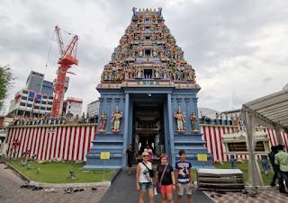 Barrio Indio o Little India, Singapur.  Sri Srinivasa Perumal Temple.