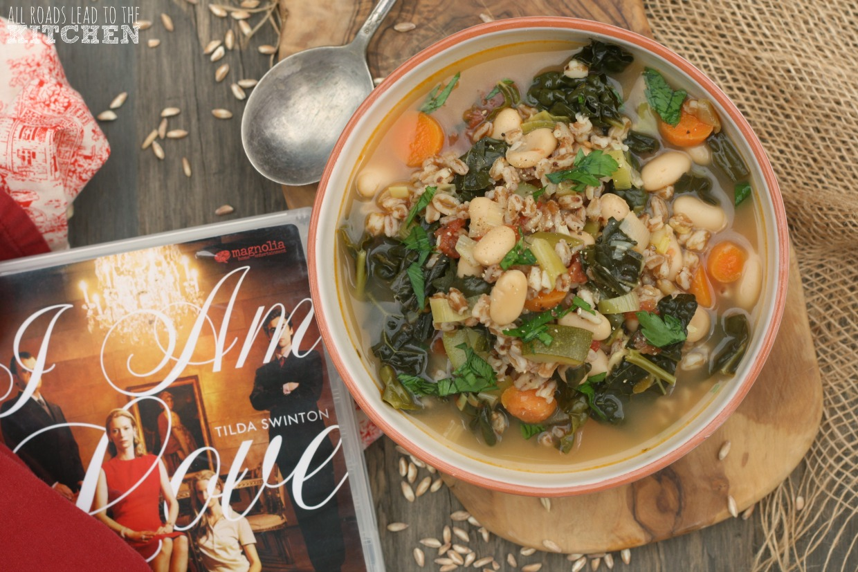 Spelt and Vegetable Soup inspired by I Am Love | #FoodnFlix