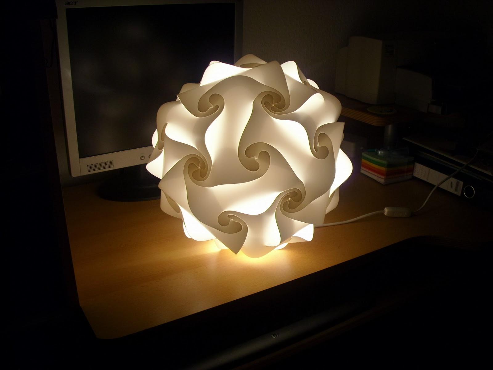 timmys basteleien puzzle lampe. Black Bedroom Furniture Sets. Home Design Ideas
