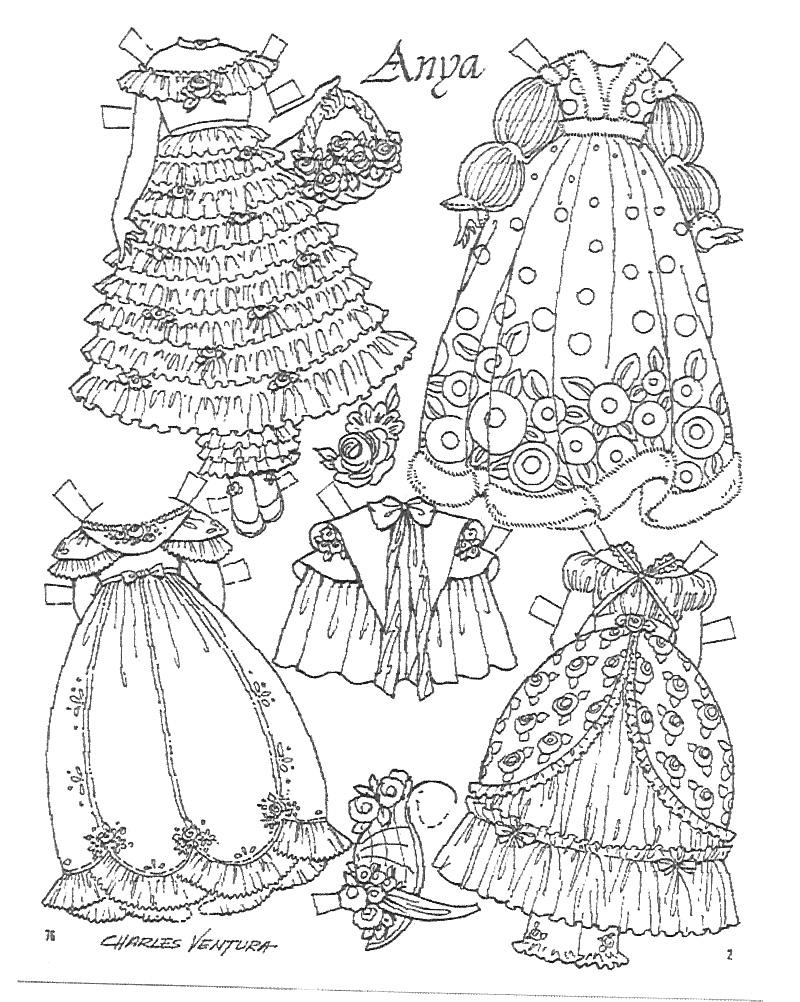 Miss Missy Paper Dolls Anya Paper Doll