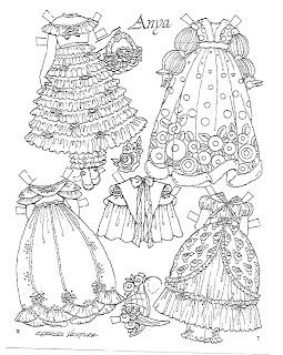 Miss Missy Paper Dolls: Anya Paper doll