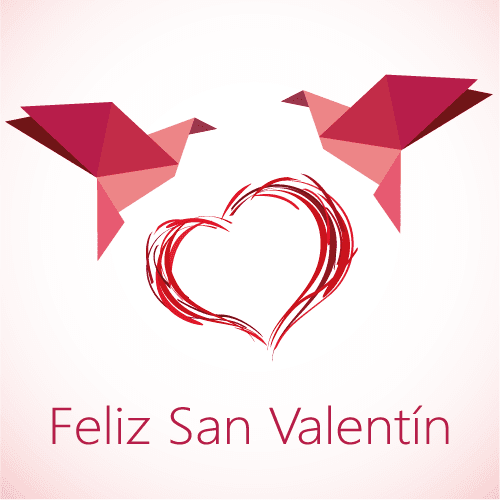 San Valentín de origami - Vector