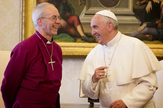 Pope Francis and Justin Welby