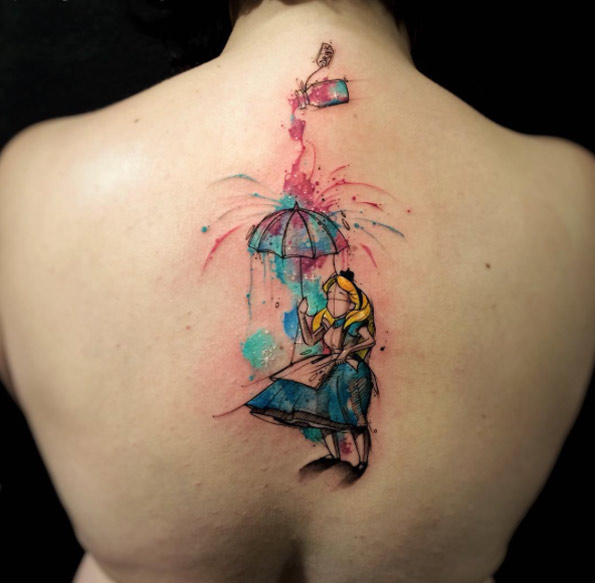 Alice In Wonderland Tattoos And Body Art Ideas