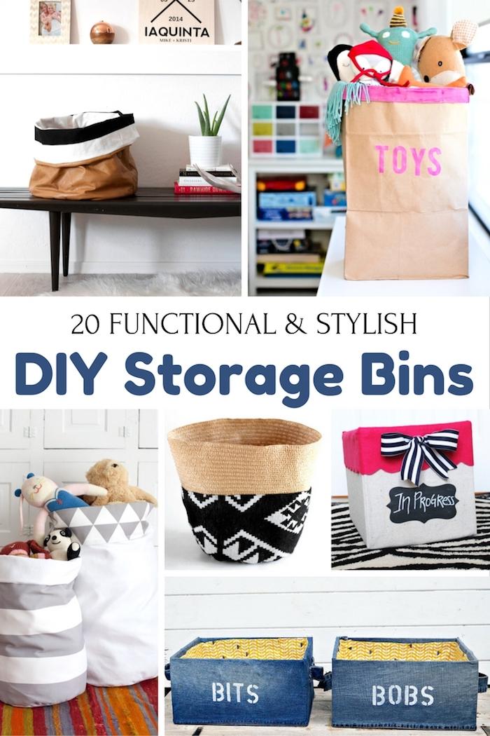diy storage boxes and bins