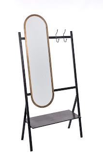 perchero con espejo para el recibidor