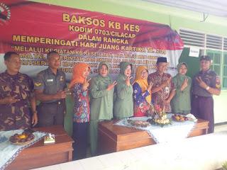 Baksos KB Kes Kodim 0703/Cilacap Dalam Rangka Memperingati Hari Juang Kartika Tahun 2019