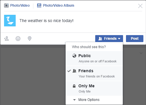 Facebook post how to change sharing settings
