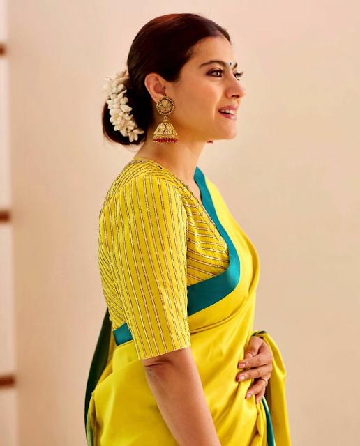 Kajol in a Raw Mango Sari