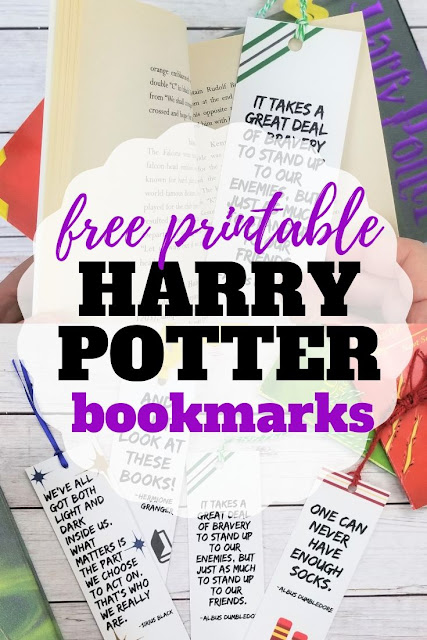 Download and print these Free Printable Harry Potter Bookmark Quotes and make reading time magical
