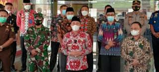 Konfrensi Pers Bupati Lampung Barat Terkait Pelaksanaan Shalat Idul Fitri 1442 Hijriah
