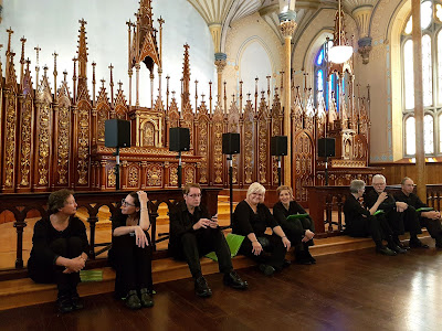 Waiting to sing  in the Rideau Chapel - photo credit, Andrew Jones