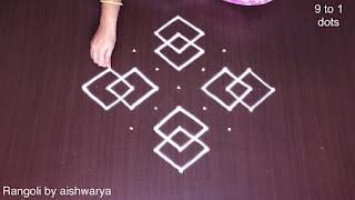 Dot Rangoli 9x1 Rangoli Design