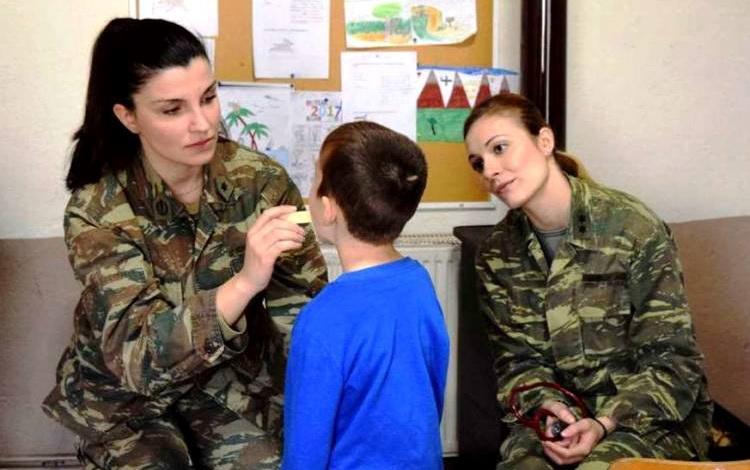 Στρατιωτικό ιατρικό κλιμάκιο στον Πέπλο