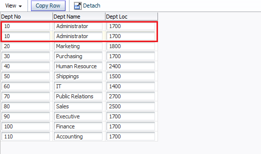 Unwinding ADF: Bean DataControl - Create new table rows