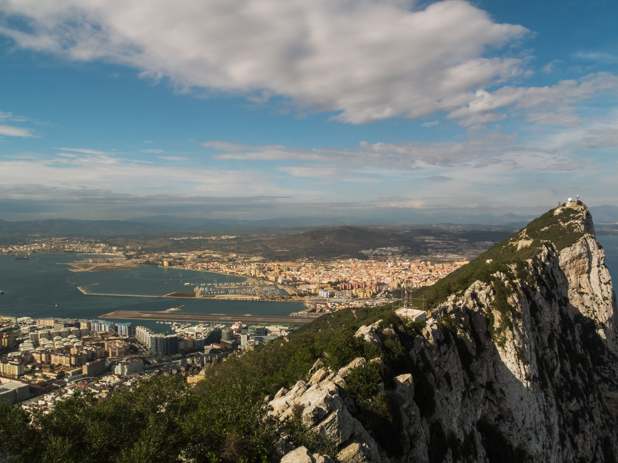Views from the top of the rock in Gibraltar.