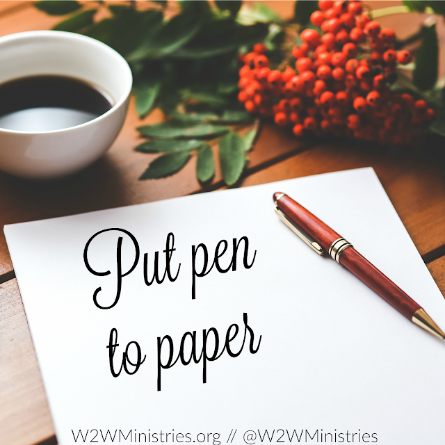 Put pen to paper and write your husband a letter. #marriage #marriagemonday #wifey #wife