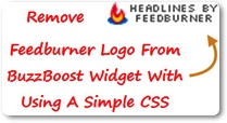 How To Remove Feedburner Logo From BuzzBoost Widget