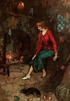 Cinderella working as slave:- Cinderella story in Hindi  with moral